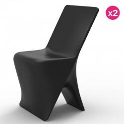 Set di 2 sedie VONDOM design SLOO nero