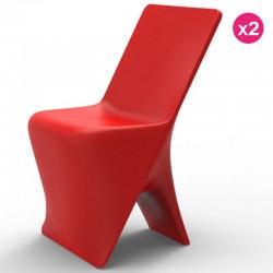 Set von 2 Stühlen Vondom Design Sloo Red