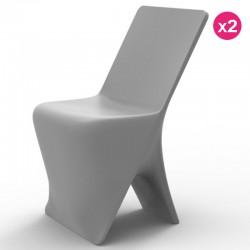 Juego de 2 sillas VONDOM diseño Sloo Grey