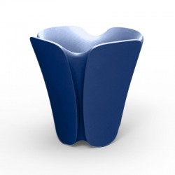 Pot Jardinière design Pezzettina Vondom blue 50x50xH85