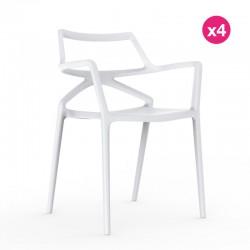 Conjunto de 4 sillas Delta VONDOM blanco