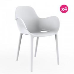 Set de 4 sillas sabinas VONDOM blanco