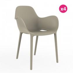 Set de 4 sillas sabinas VONDOM ecru