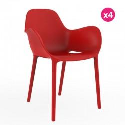 Set de 4 sillas sabinas VONDOM red