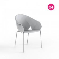 Conjunto de 4 sillas VONDOM jarrones blancos
