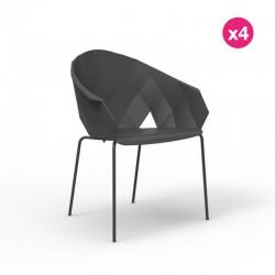 Envase de 4 sillas VONDOM jarrones negros
