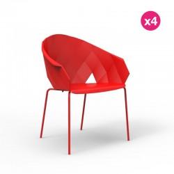 Lot de 4 chaises Vases Vondom Rouge