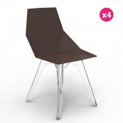 Lot de 4 chaises FAZ Vondom Bronze