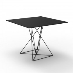 Table FAZ Vondom black stainless steel base 80x80xH72