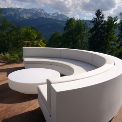 Table Basse Vondom Design Vela Ronde Blanc