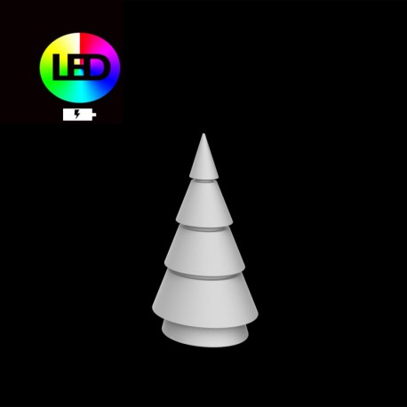 Christmas tree multicolor forest Vondom height 200 led RGBW with battery