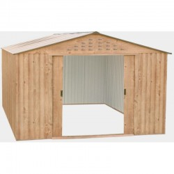 Duramax Garden Shelter in Metal Woodgrain Imitation Wood 11.62 square meters