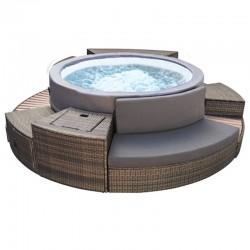 NetSpa VITA PREMIUM Tragbares Spa mit 6 Sitzplätzen mit Möbeln