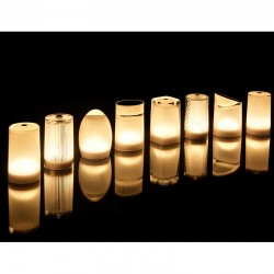 Lot de 8 Lampes Imagilights Collection Djobie avec Led Assorties et Plateau Multi-chargeurs Imagilights