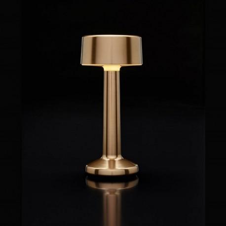 Luminaire de Table Imagilights Led Sans Fil Collection Moments Doré Cylindre