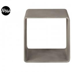 Intense Grey Concrete Vernis Storage Cube Hoi KosyForm