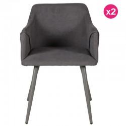 Lote de 2 lov kosyform veludo cinza cadeiras