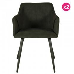 Lote de 2 cadeiras verdes Fir Velvet Lov KosyForm