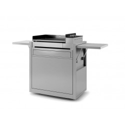 Adour Forge Trolley for Plancha Premium 60 in Stainless Closed