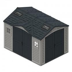 Duramax Garden Shelter 8m2 10 x 8 PVC Anthrazit grau