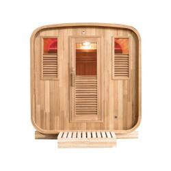 Gaïa Rossa 6-seater outdoor sauna Holl's