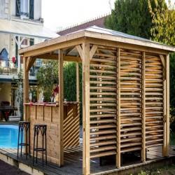 Chiosco giardino in legno Blueterm 12,32 m2 con 2 pareti Habrita