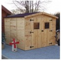 Habrita Solid Wood Garden Shelter 5.76 m2 with floor and roof in corrugated plates