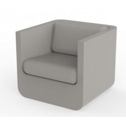 Lounge armchair Ulm Vondom taupe