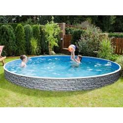 Pool Azuro Ronde Imitation Stone 460x120