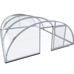Pool shelter in Aluminum and Polycarbonate 514 x 1066 x 178