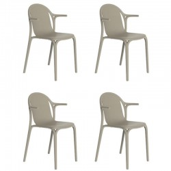 Lot de 4 fauteuils Vondom Brooklyn écru