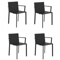Lot de 4 fauteuils Vondom Quartz noir