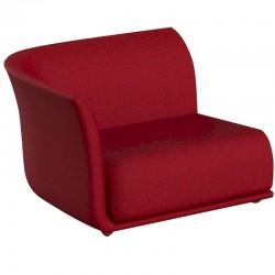 Canapé Sofa Vondom design Suave droit en tissu déperlant rouge Grenat 1046