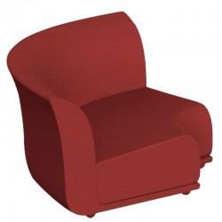 Canapé Sofa Vondom design Suave angle en tissu déperlant rouge Grenat 1046
