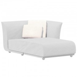 Sofa méridienne gauche Suave Vondom tissu déperlant blanc Snow 1041