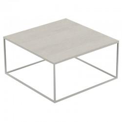 Table basse carrée Pixel Vondom Dekton Danae écru et pieds écru 80x80xH25