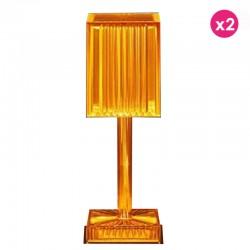 Lot de 2 Lampes Gatsby Cilindro Ambre sans fil Vondom Led