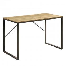 Bureau rectangulaire 120x60 bois clair et métal noir KosyForm