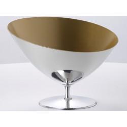 Kessel in Champagner-Symbol poliert, Zinn und gold innen OA1710