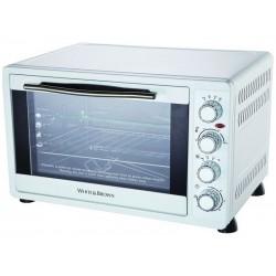 Arbeitsplatte Ofen 52 L weiß und braun MF63