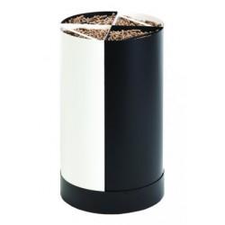 Lagerhalter Pellet Holz Fractio schwarz - weißen neunzehn design